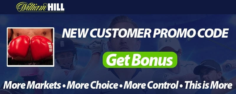Boxing Bets at William Hill - Free Promo Codes