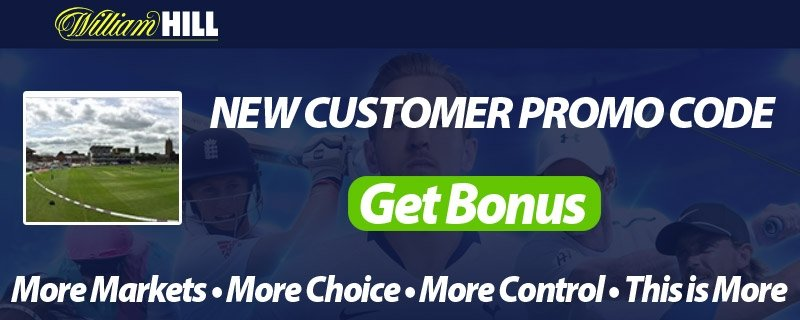Cricket Bets at William Hill - Free Promo Codes