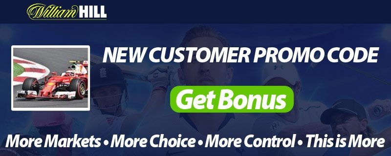 Formula 1 GP Bets at William Hill - Free Promo Codes