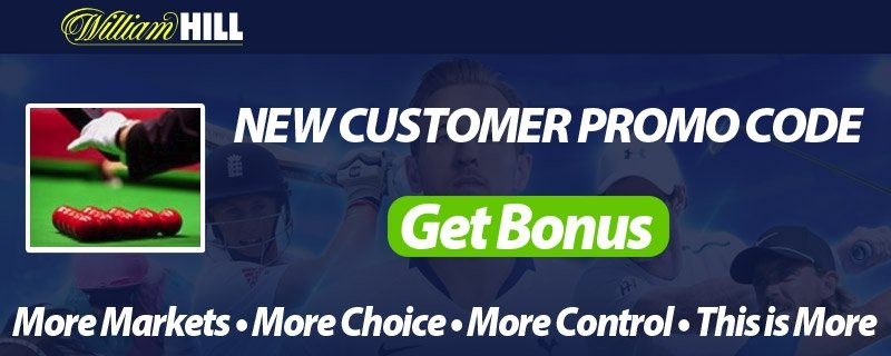 Snooker Free Bets at William Hill - Free Promo Codes