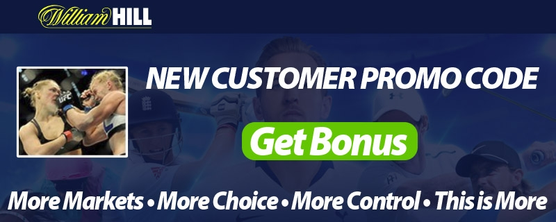 UFC & MMA Free Bets at William Hill - Free Promo Codes